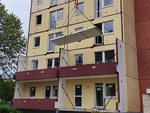 Balkonabbruch Johannes-Dick-Str. 59, Chemnitz