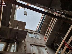 konstruktiver Abbruch IW66 Plattenbau Chemnitz, Irkutsker Straße
